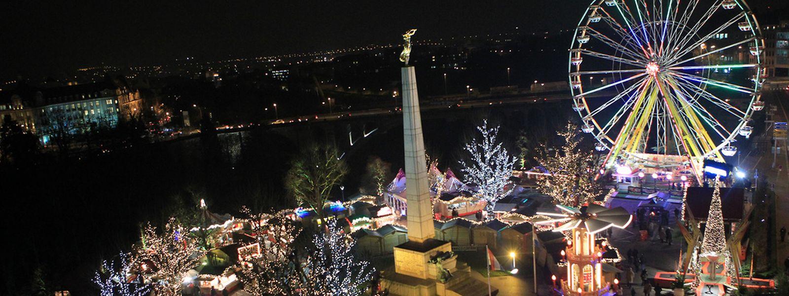 Der Weihnachtsmarkt bei der Gëlle Fra startet am Samstag.