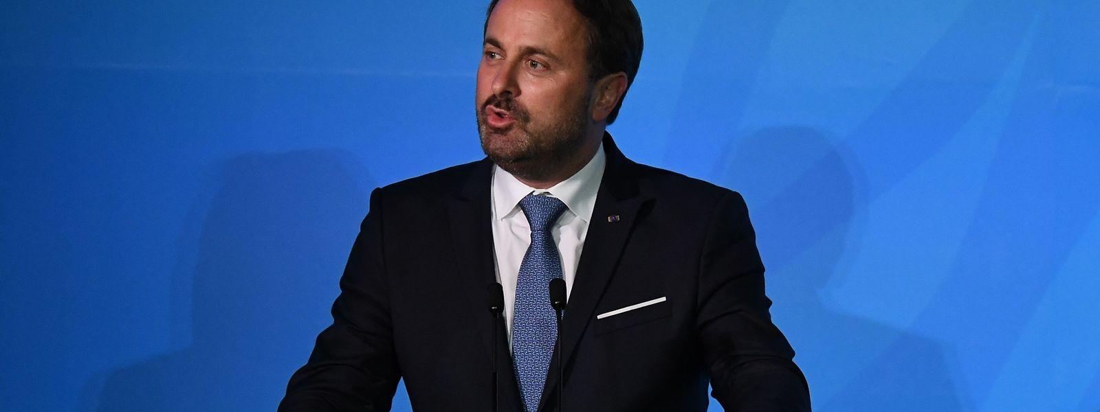 Xavier Bettel, lors de la 74e Assemblée générale des Nations Unies, a notamment évoqué la lutte contre le réchauffement climatique