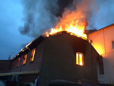 When firefighters arrived at the scene they were met with the apartment building completely ablaze