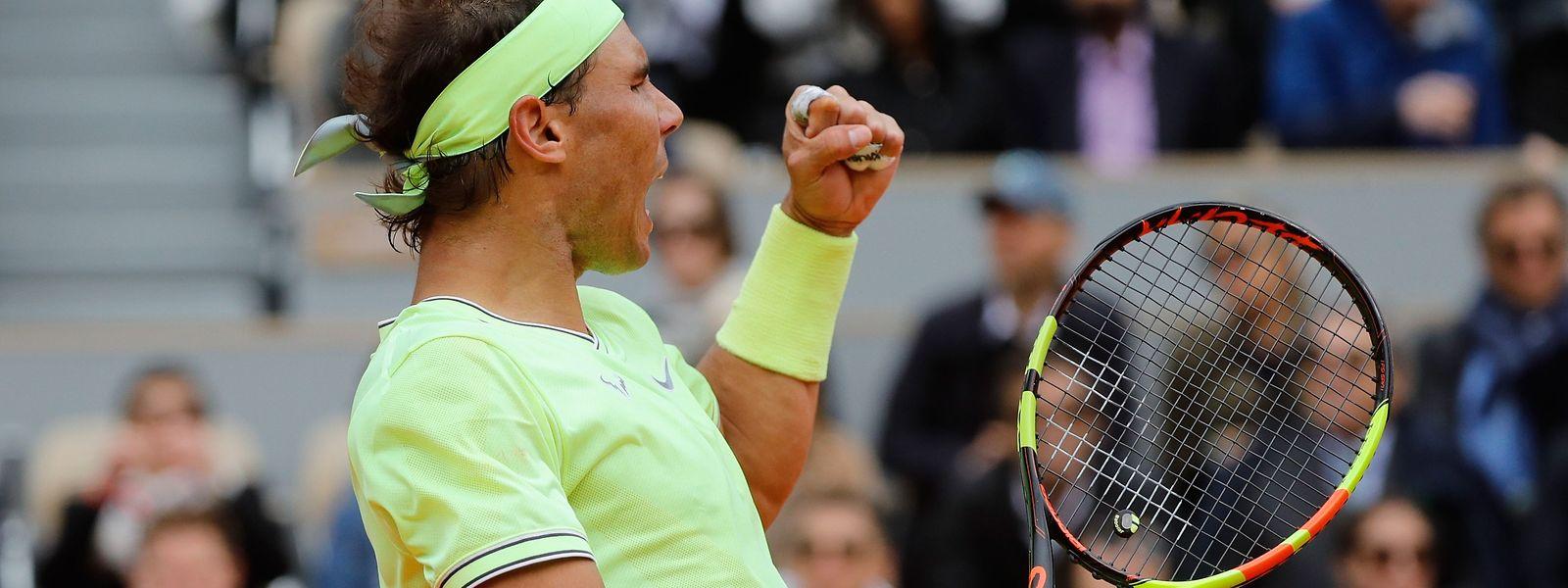 Rafael Nadal a toujours un appétit d'ogre sur la terre battue de Roland-Garros.