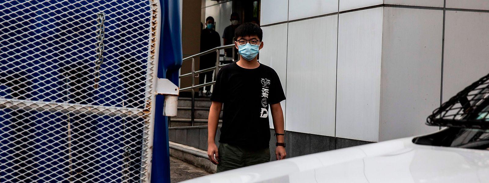 Pro-Demokratie-Aktivist Joshua Wong nach seiner vorübergehenden Festnahme durch die Polizei. Ihm droht nun eine langjährige Haftstrafe.