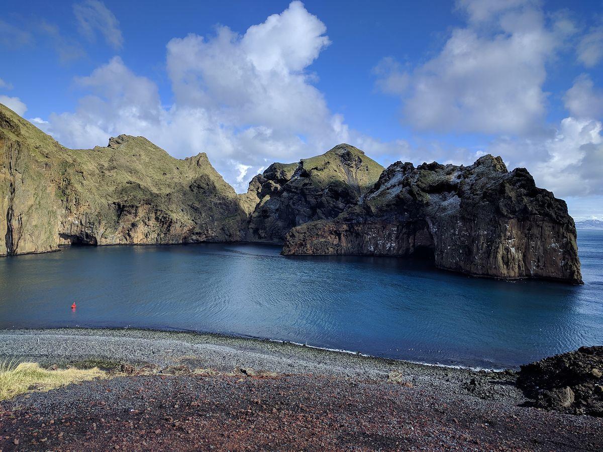 Refugium für bis zu 12 Beluga-Wale: die Vestmannaeyar-Bucht vor Island.