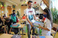 Lokales, Rentrée Scolaire, Erster Schultag, Schule, Schulbücher, Schüler Grundschule Sassenheim, Foto: Guy Wolff/Luxemburger Wort