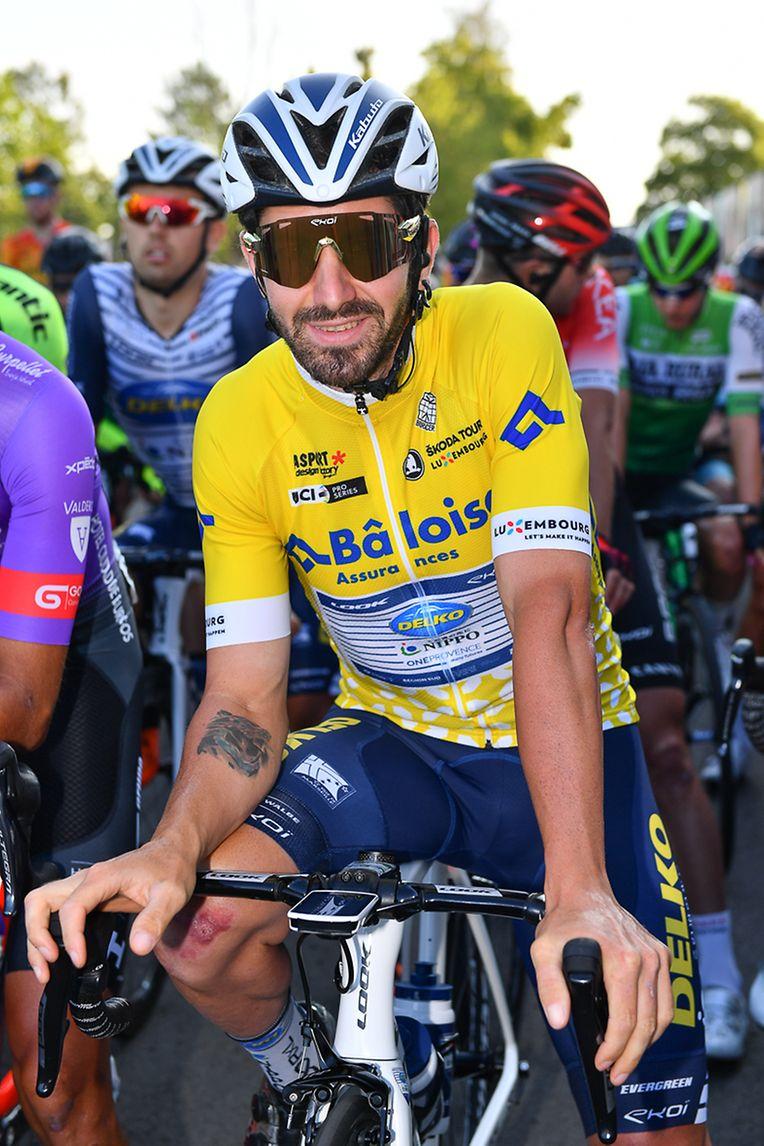 Der Leader der Gesamtwertung Eduard Michael Grosu (ROM/Nippo-Delko) vor dem Start .
