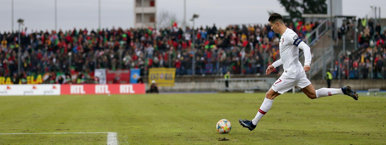 Cristiano Ronaldo lief zuletzt im November 2019 im Stade Josy Barthel auf. Damals traf er zum 2:0-Endstand in der EM-Qualifikation.