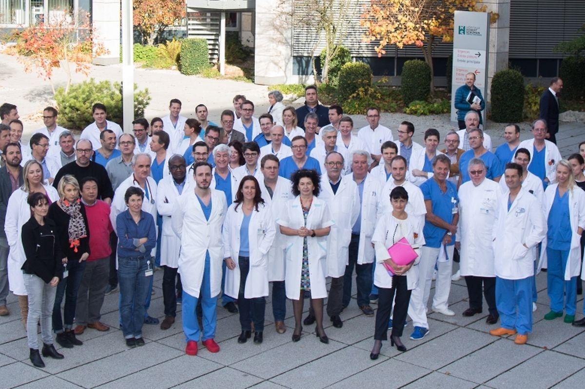 Les médecins multiplient les démarches pour montrer leur mécontentement: comme ici, aux Hôpitaux Robert Schuman, où un rassemblement a eu lieu le 24 novembre dernier.