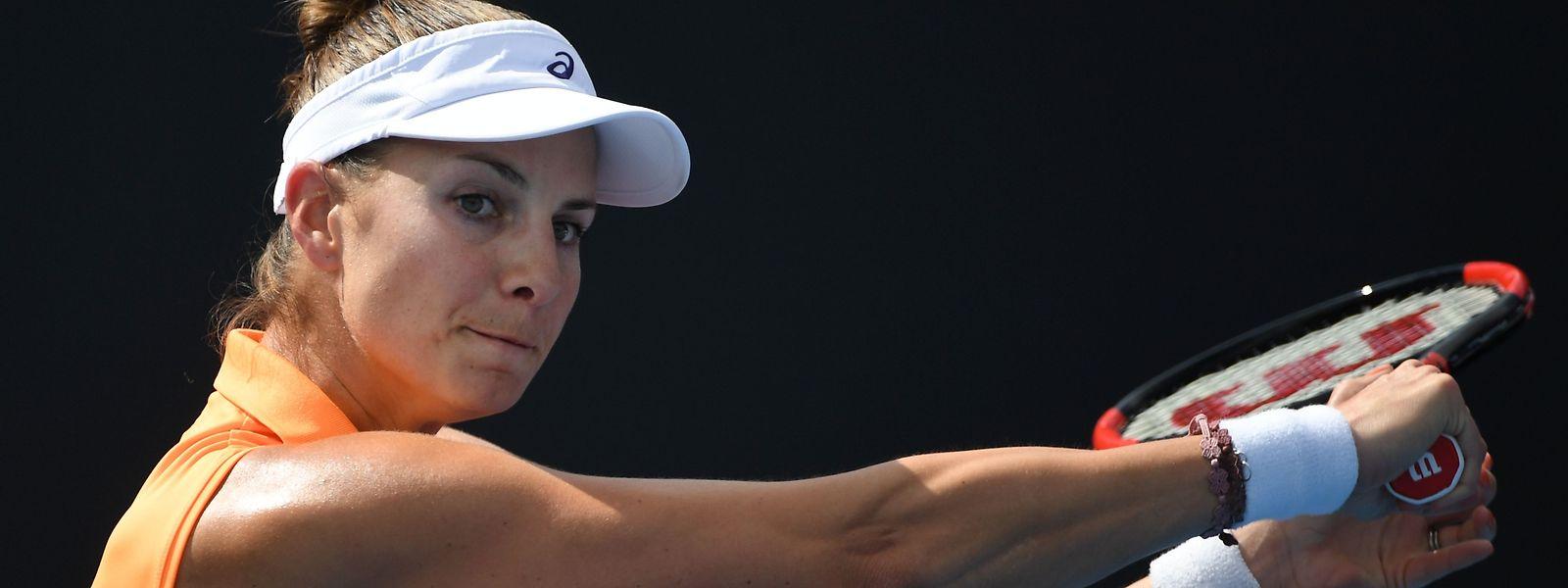 Mandy Minella s'est inclinée en deux sets après une heure et 21 minutes de match.