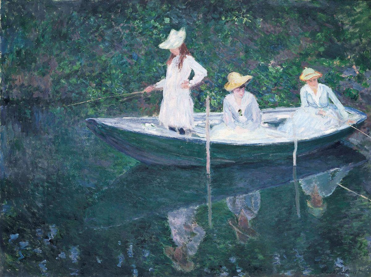 "Claude Monet: ""Die Barke in Giverny (En norvégienne)""."