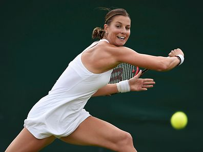 Mandy Minella, pictured, is back among the world's top 100 female tennis players