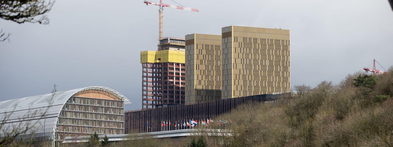 La 3e tour de la Cour européenne de Justice au Kirchberg doit être parachevée en 2019.