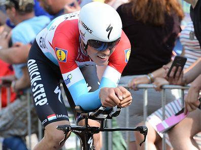 Bob Jungels fährt beim Prolog des Giro d'Italia auf den siebten Rang