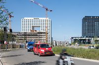 Lok , Chantiers Ville de Luxembourg , Liste von  Diane Lecorsais ,Croisement Ban de Gasperich , Cloche d`Or  Foto:Guy Jallay/Luxemburger Wort