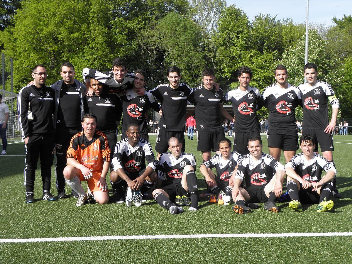 L'équipe de Gilsdorf victorieuse 2-1 de Larochette.