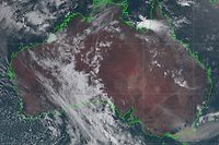 "This handout satellite image taken and received on January 3, 2020 from the Japan Meteorological Agency shows an image from the Himawari-8 satellite of Australia, with smoke (bottom R) from bushfires visably drifting off the coast of southeast New South Wales state. - At least 20 people have died, dozens are missing, more than 1,300 homes have been damaged in an unprecedented months-long bushfire crisis across Australia that has torched an area roughly double the size of Belgium or Hawaii. (Photo by Handout / Japan Meteorological Agency / AFP) / -----EDITORS NOTE --- RESTRICTED TO EDITORIAL USE - MANDATORY CREDIT ""AFP PHOTO / JAPAN METEOROLOGICAL AGENCY"" - NO MARKETING - NO ADVERTISING CAMPAIGNS - DISTRIBUTED AS A SERVICE TO CLIENTS"