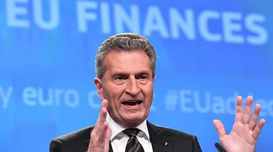 German EU Commissioner for budget and human resources Gunther Oettinger.