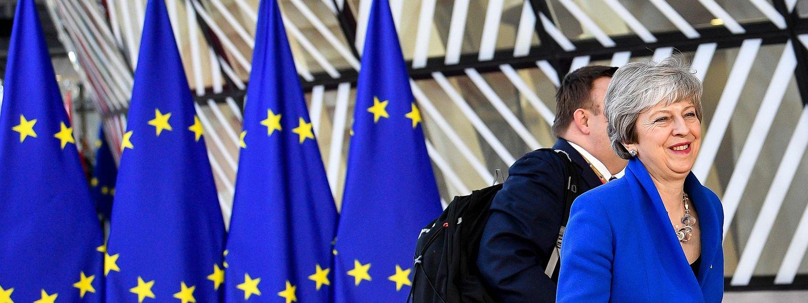Farblich stimmte Theresa May am Mittwoch mit der EU überein.