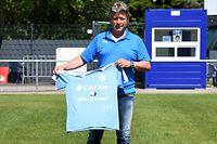 Jeff Saibene, entraîneur Racing Luxembourg. Football. Stade Achille Hammerel, Luxembourg. Foto: Stéphane Guillaume