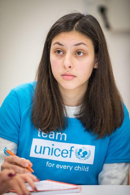 Maria Lopes istJugendbotschafterin der Unicef. Sie möchte sich auch weiterhin für die Kinder und Jugendlichen dieser Welt einsetzen.