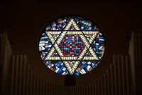 Etoile de David lors de l'interview de Claude Marx, president du Consistoire israelite, a la Synagogue de Luxembourg, le 05 Fevrier 2015. Photo Chris Karaba