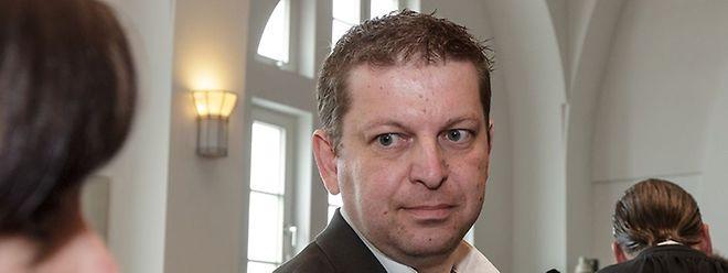 Raphaël Halet lors du procès LuxLeaks en avril 2016, à la Cité judiciaire de Luxembourg.