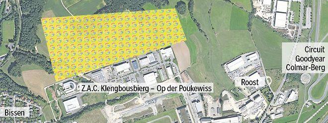 La zone sur laquelle Google pourrait implanter son sixième datacenter européen