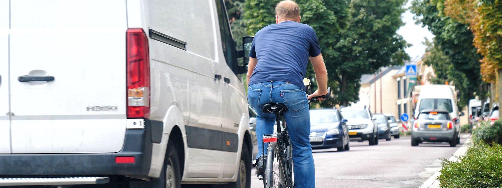 Der Alltag auf dem Fahrrad: Selten freie Fahrt, viele Kompromisse.