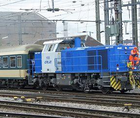 CFL 1105 manoeuvre en gare de Luxembourg