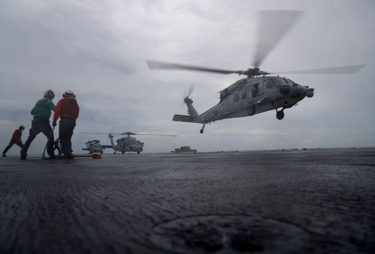 Helikopter wurden eingesetzt.
