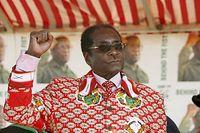 Robert Mugabe in klassischer Pose im Jahr 2008.