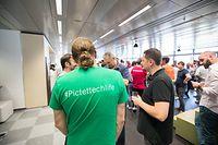 Wirtschaft, Besichtigung der Firma Pictet Technologies, Foto: Lex Kleren/Luxxemburger Wort