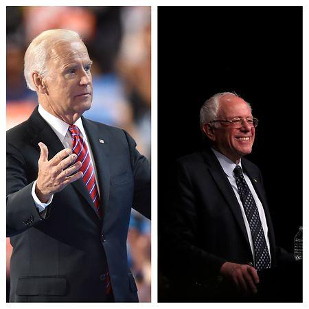 Trumps chancenreichste Demokratische Herausforderer: Der frühere Vize-Präsident Joe Biden (l.) und der frühere Präsidentschaftskandidat und Senator von Vermont, Bernie Sanders (r.).