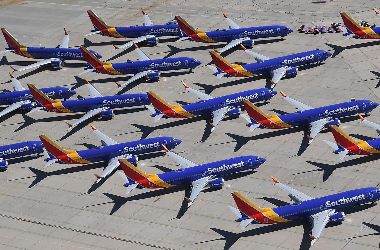Nach Flugverbot noch immer am Boden: Southwest Airlines Boeing 737 MAX.