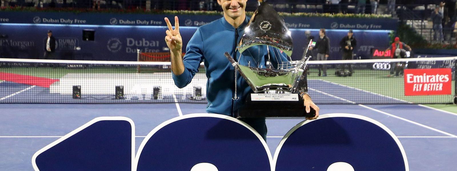 O suíço Roger Federer fez história no Dubai.