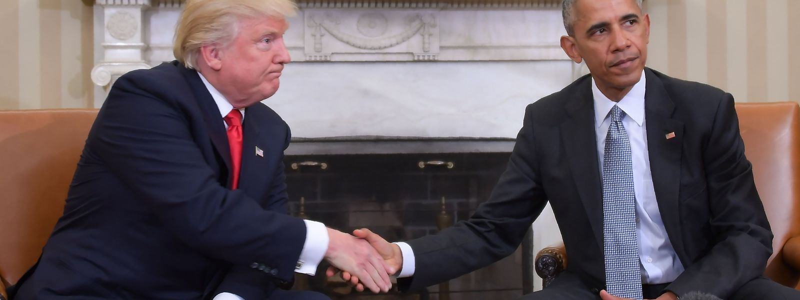 Seit langem ziemlich beste Feinde: US-Präsident Donald Trump und sein Amtsvorgänger Barack Obama.