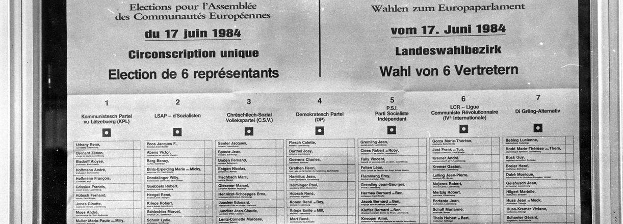 Europawahl - Elections européennes 1984 - Copyright : Fernand Morbach/1984