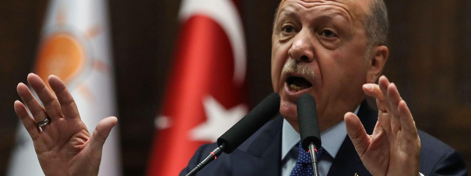 Recep Tayyip Erdogan nutzt den Einmarsch in Nordsyrien, um von innenpolitischen Problemen abzulenken.