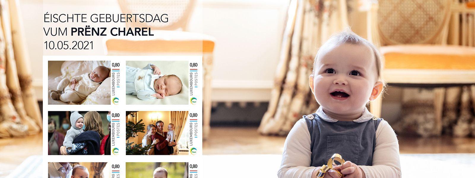 Das erste Lebensjahr für die Ewigkeit festgehalten - Prinz Charles erhält zum Geburtstag eine Serie von Sondermarken der Post.