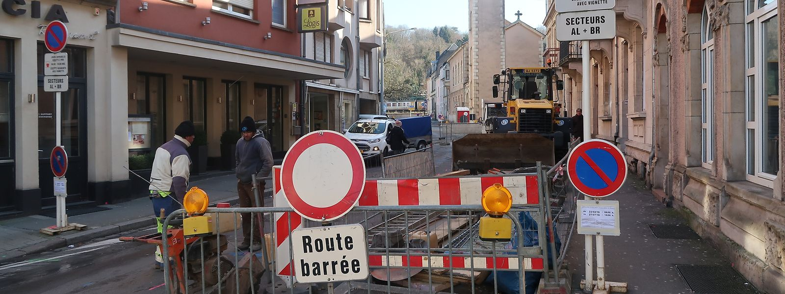 Seit Donnerstag ist ein Teil der Rue de la Libération gesperrt.