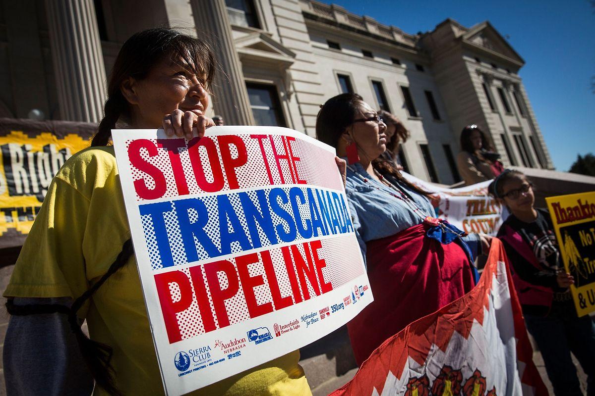 Auch gegen die Keystone Pipeline wurde lange und ausgiebig protestiert - auf beiden Seiten der Grenze.