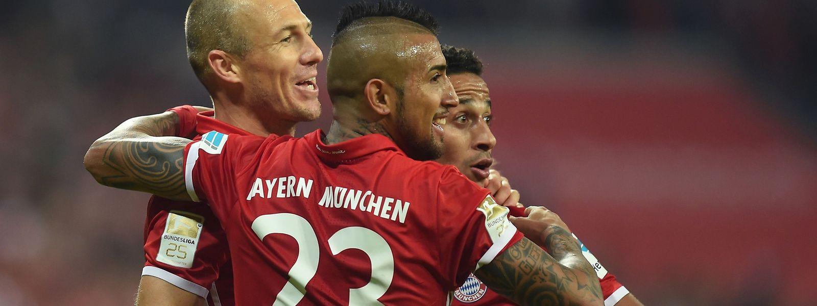 Arjen Robben ist wieder zurück und schießt die Bayern zum Sieg.