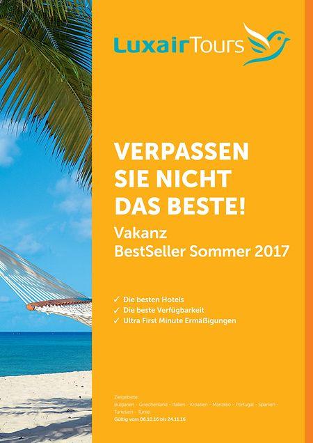 """In dem vor wenigen Tagen erschienenen """"Vakanz""""-Bestseller-Katalog werden mehr als 50 Reisen angeboten. Daneben gibt es einen zweiten Beststeller-Katalog mit Produkten aus dem preisgünstigeren """"Happy Summer""""-Programm."""