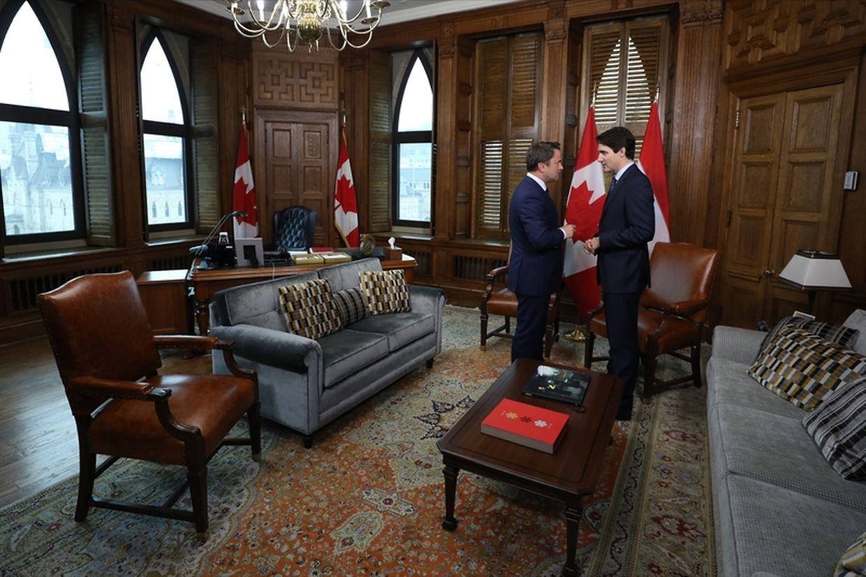 (de g. à dr.) Xavier Bettel, Premier ministre, ministre d'État ; Justin Trudeau, Premier ministre du Canada