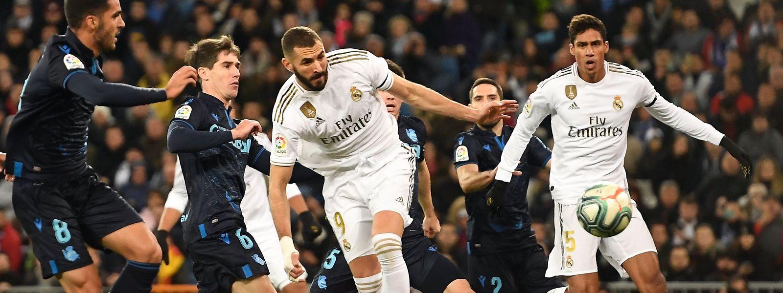 Karim Benzema est actuellement en pleine forme. C'est le meilleur buteur de la Liga avec dix réalisations, deux de mieux que Messi et Moreno.