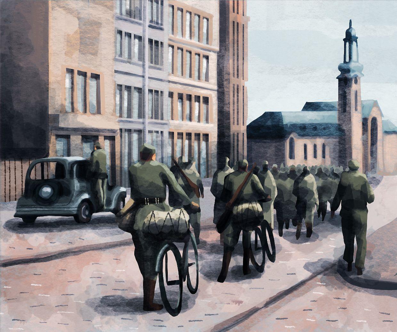 2 septembre 1944. Tous les membres de l'administration et de la police allemandes quittent le Grand-Duché à la hâte.