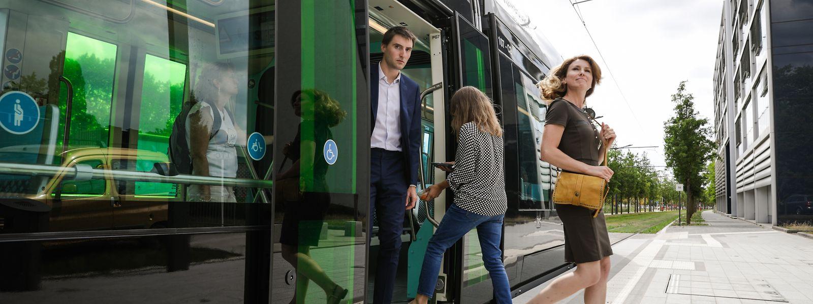 56% des personnes interrogées n'ont pas encore utilisé le tram.
