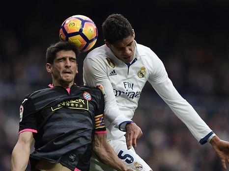 Raphaël Varane in action against RCD Espanyol