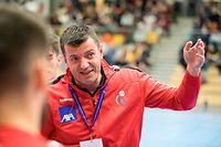 Nikola Malesevic (Trainer Luxemburg) / Handball, Testspiel Luxemburg - USA / Duedelingen / 04.01.2019 / Foto: kuva