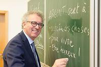 Woch vun de Suen - Intervention de Pierre Gramegna et Claude Marx dans une classe du cycle 4, Esch-Alzette, 14.03.2018, Foto: Laurent Ludwig