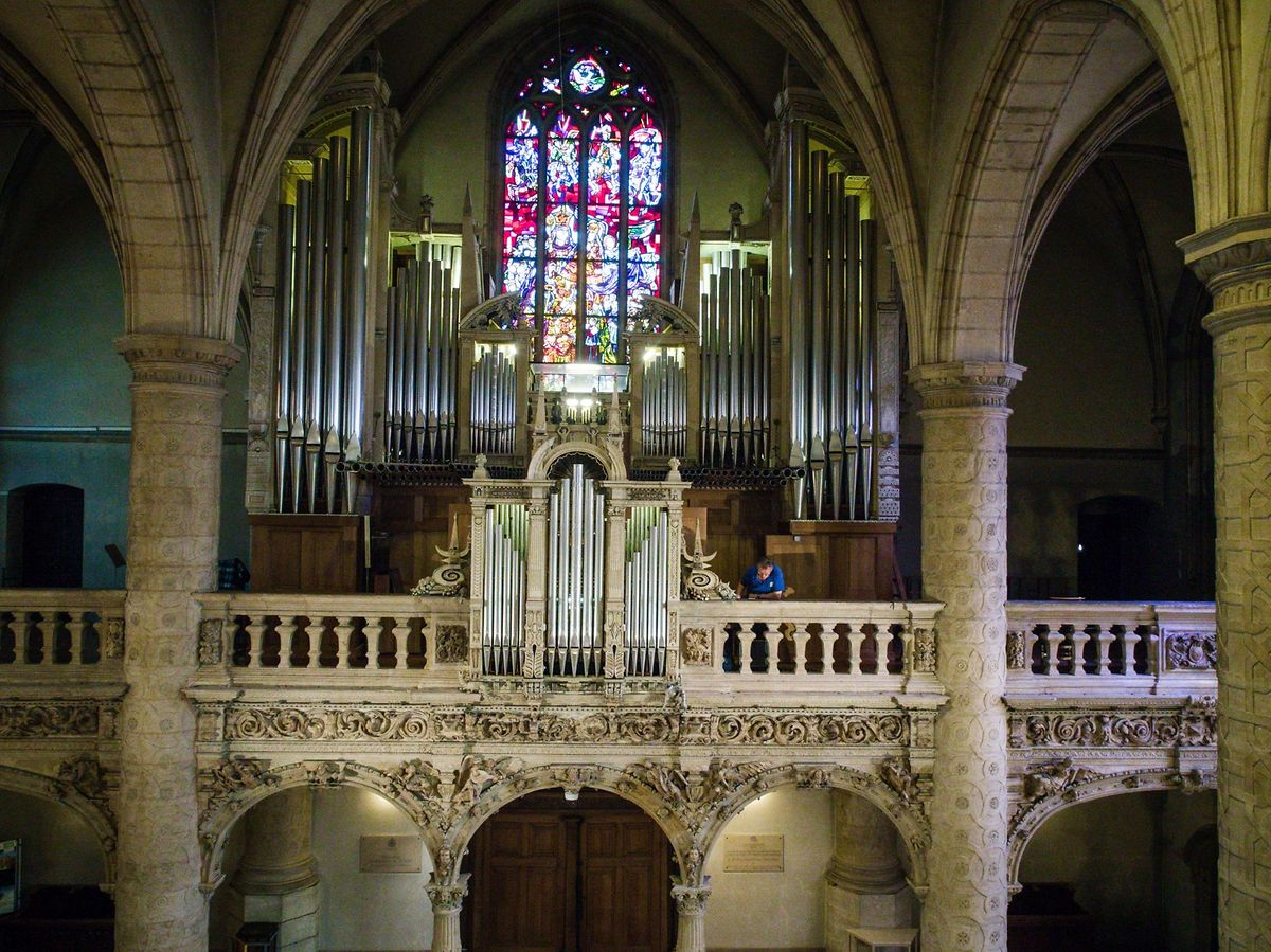 Ein bisher unbekannter Blick auf die Orgel.