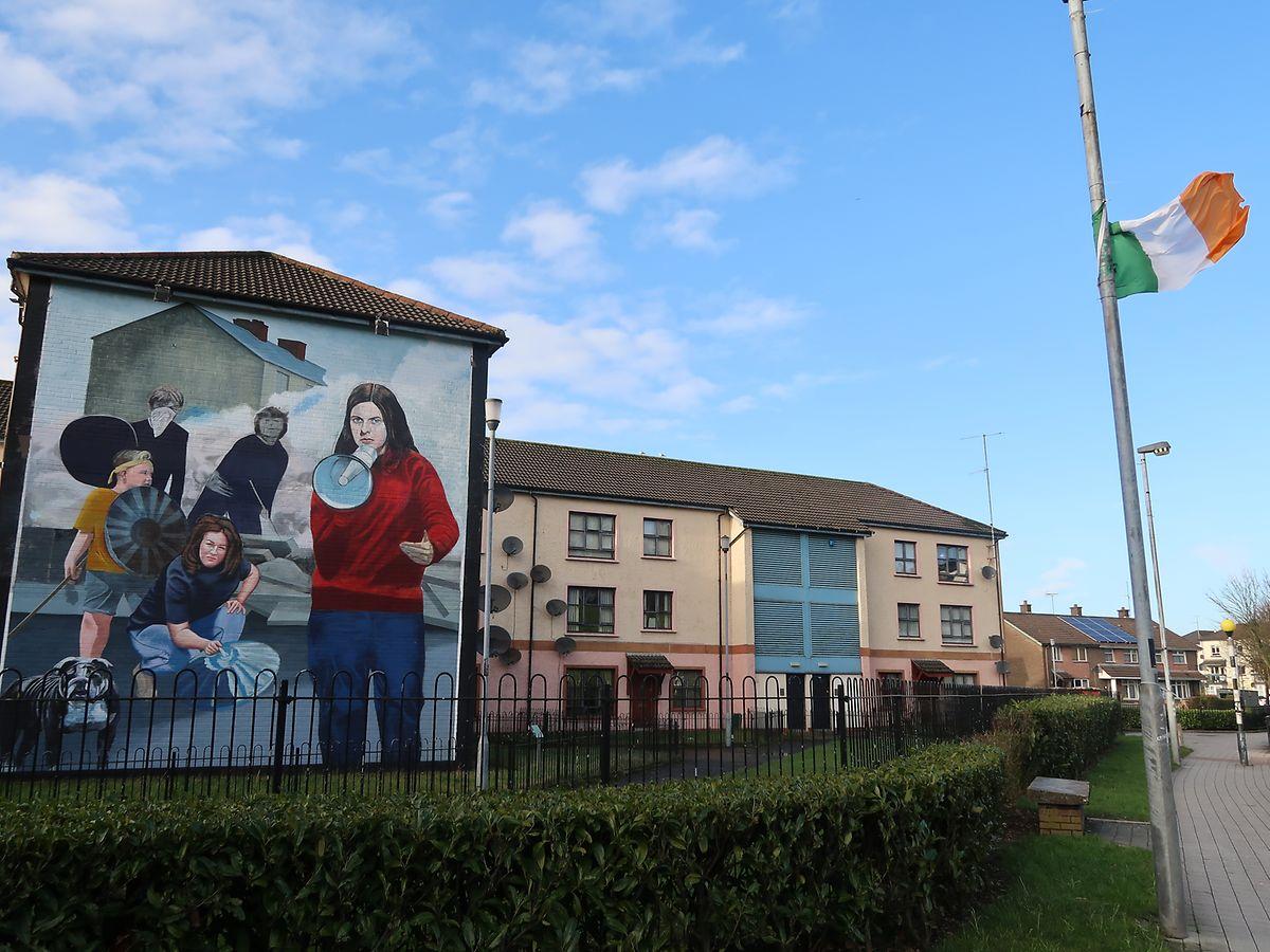 irisch-nationalistische Wandmalerei in Derry